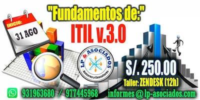FUNDAMENTOS DE ITIL v3 + Taller ZENDESK (12h)