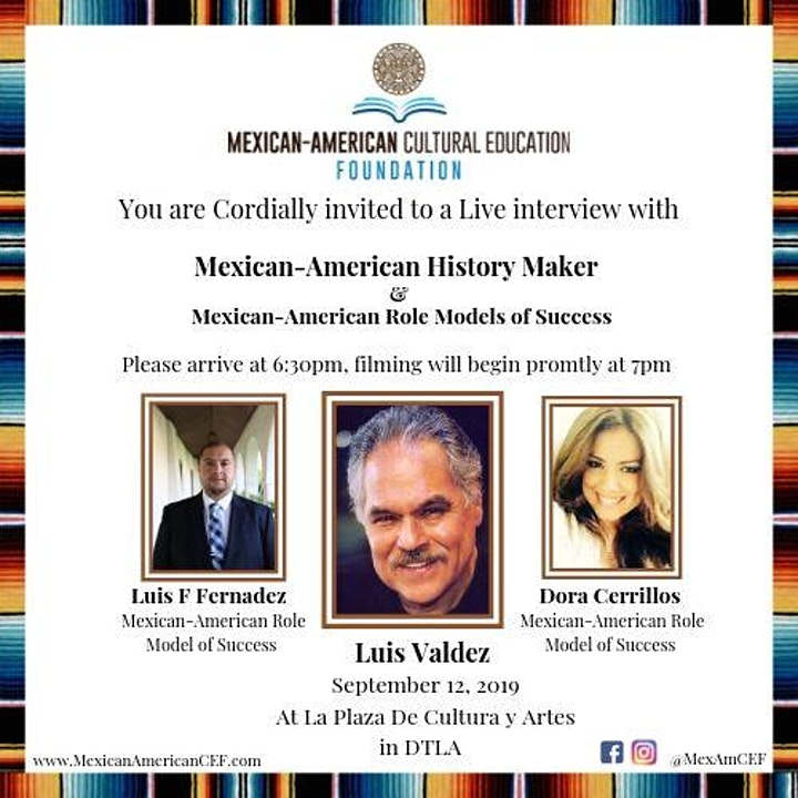 "Interview with ""Mexican - American History Maker"" and ""Pearls of Wisdom"" image"