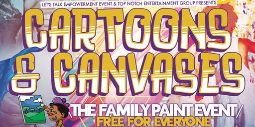 Cartoons & Canvases • The Family Paint Night