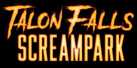 Talon Falls Screampark 2019 tickets