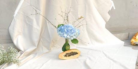 Ikebana ilustrado y estampado textil entradas