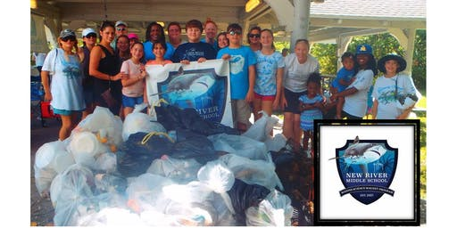 New River Middle School BEACH Clean up - Sept. 21, 2019