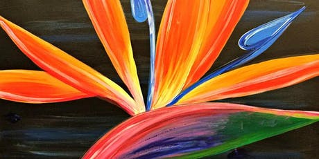 Paint Wine Denver Bird of Paradise Tues Oct 22nd 6:30pm $30 tickets