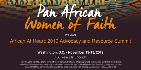 Pan African Women of Faith -African at Heart Advocacy & Resource Conference tickets