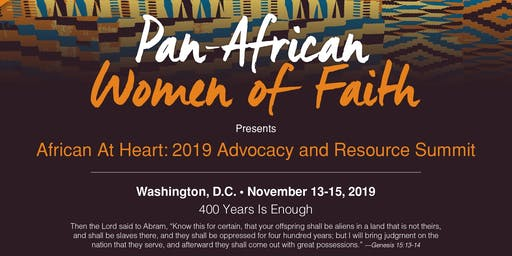Pan African Women of Faith -African at Heart Advocacy & Resource Conference