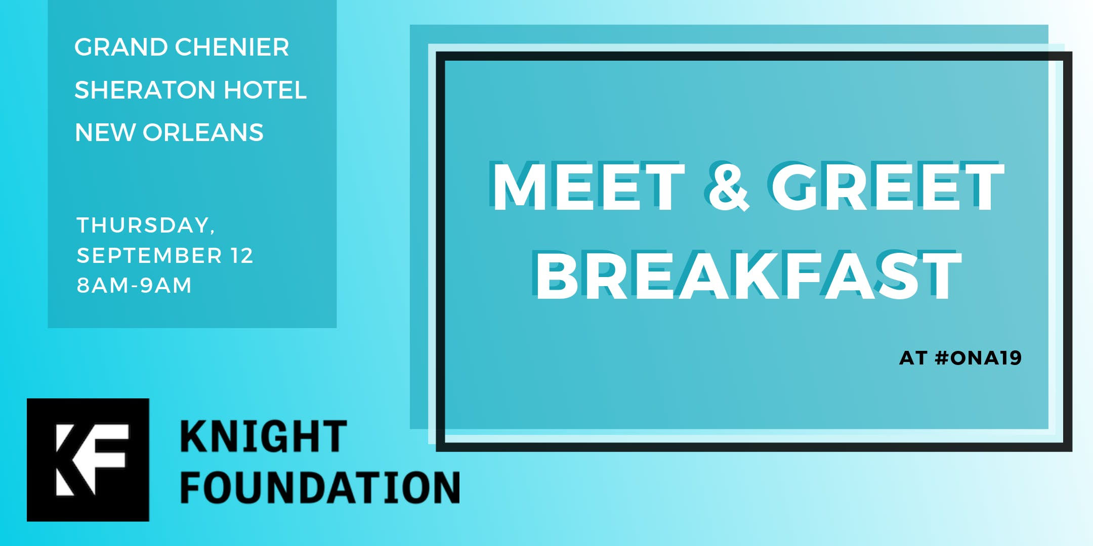 Open Meet and Greet Breakfast banner