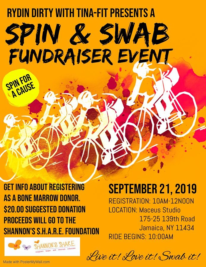 Spin and Swab Fundraiser Event image