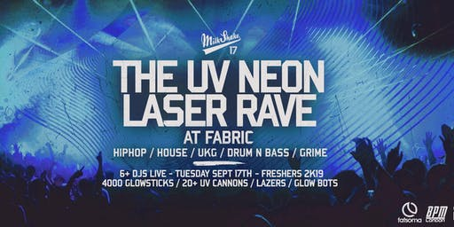 The UV Neon Laser Rave at Fabric London