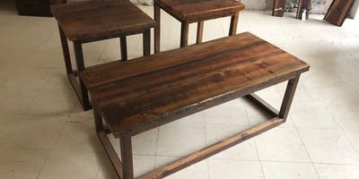 Living room set workshop..chose between a coffee table, end table/s or both!