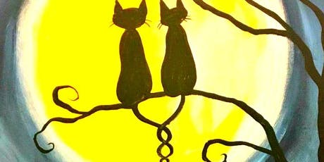 Paint Wine Denver Halloween Cats Sat Oct 19th 11am $25 tickets