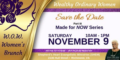 Shepherd's Heart Evangelistic Ministries' W.O.W. Women's Brunch