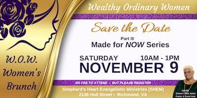 Shepherd's Heart Evangelistic Ministries' W.O.W. Women's Brunch