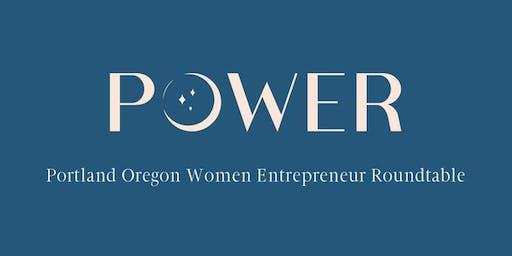 POWER - Portland Oregon Women Entrepreneur Roundtable October Event