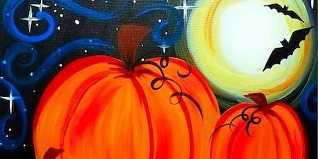 Paint Wine Denver Moonlit Pumpkins Sat Oct 26th 11am $25 tickets