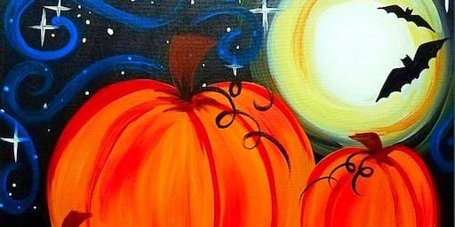 Paint Wine Denver Moonlit Pumpkins Sat Oct 26th 11am $25
