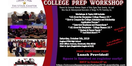 2019 College Prep Workshop - Sponsored by Delta Sigma Theta Sorority, Inc. & Omega Psi Phi Fraternity, Inc. tickets