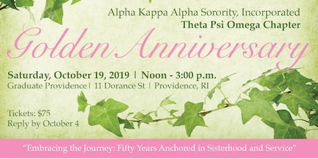 Alpha Kappa Alpha Sorority, Inc. Theta Psi Omega Chapter 50th Anniversary tickets