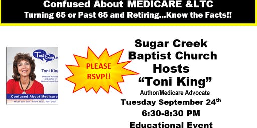 Medicare/LTC Workshop-Sept 24 Sugar Creek Bapt Church