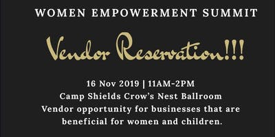 Vendor Reservation for Women Empowerment Summit