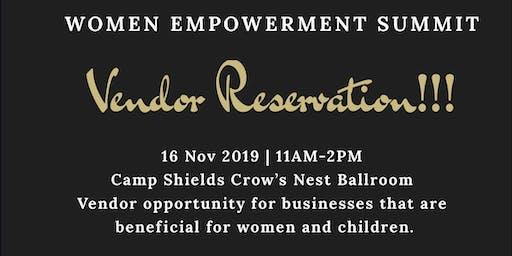 Vendor Reservation for Women Empowerment Summit