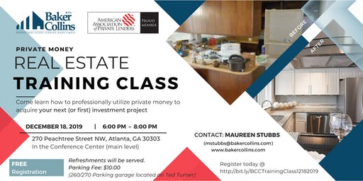 Private Money Real Estate Training Class