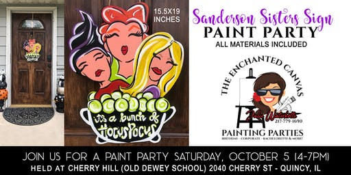 Sanderson Sisters Door Sign Painting Class(15.5x19) OPEN TO THE PUBLIC!
