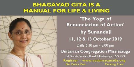 Bhagavad Gita Lecture series by Sunandaji tickets