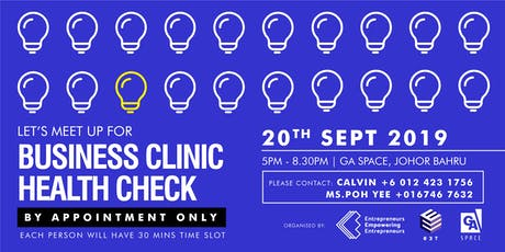 Business Clinic Health Check (SEP JB) tickets