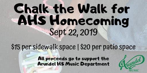 Chalk the Walk for AHS Homecoming