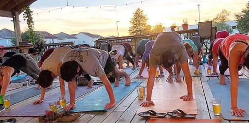 Beer Yoga at Krafty Draft