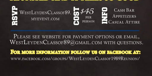 West Leyden Class of 89 / 30 year Reunion