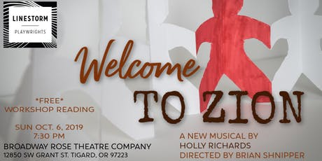 WELCOME TO ZION - A New Musical tickets