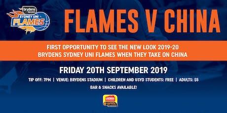 Brydens Sydney Uni Flames V China tickets