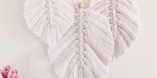 Feather Macrame Wall Hanging - Recycled Natural Cotton