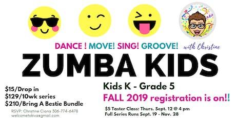 ZUMBA KIDS - Fall Classes 2019 tickets