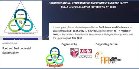 3rd International Conference on Environmental and Food Safety tickets