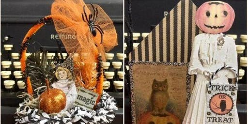 Halloween Assemblage Ornaments