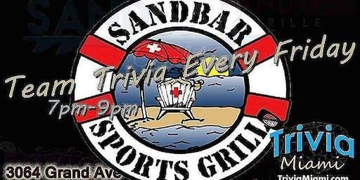 Trivia Fridays at Sandbar