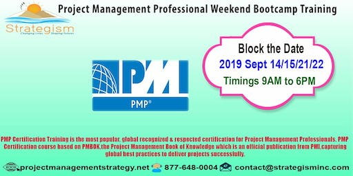 PMP weekend Bootcamp in Fremont-Sept-14,15,21,22-2019