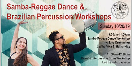Samba-Reggae Dance & Brazilian Percussion Drum Workshops tickets