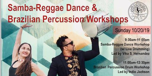 Samba-Reggae Dance & Brazilian Percussion Drum Workshops