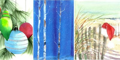 """3 Days: Watercolor Holiday with """"Tricks of the Trade"""" w/ Wendy Cunico"""