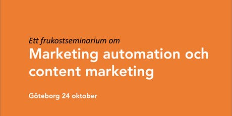 Marketing automation och content marketing biljetter
