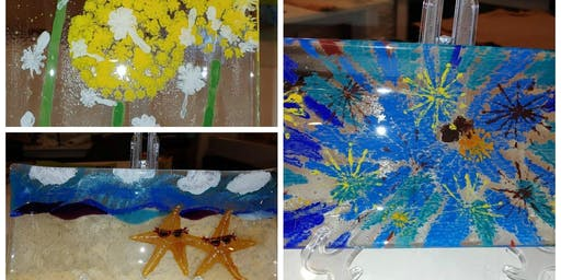 Half Day: Painting on Glass in December w/ Kathy Oda