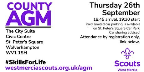 West Mercia Scouts AGM tickets