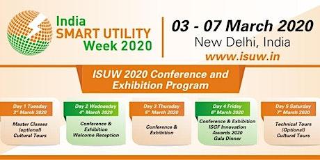 India Smart Utility Week (ISUW) 2020 tickets
