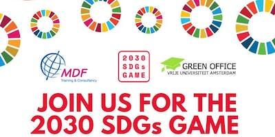 2030 SDG-game & Network Dinner Amsterdam
