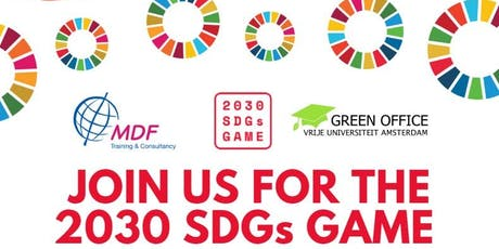 2030 SDG-game & Network Dinner Amsterdam  tickets