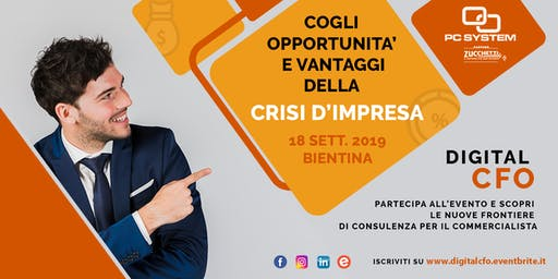 CRISI D'IMPRESA: nuove opportunità per il commercialista con DIGITAL CFO!