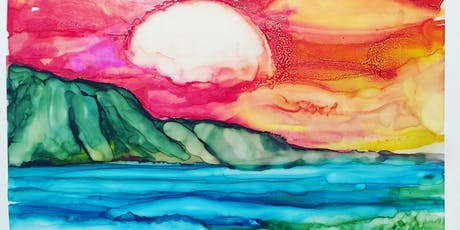 Alcohol ink painting tickets